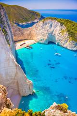 Shipwreck beach on Zakynthos island in greece
