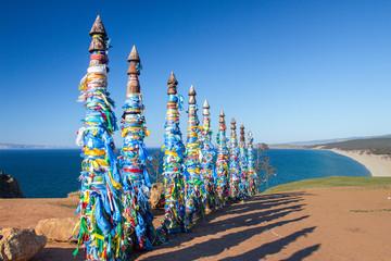 Shamanic syllables on the island of Olkhon, Lake Baikal
