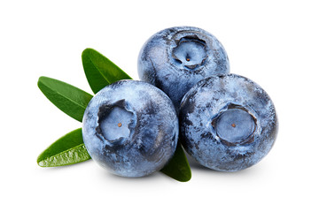 Ripe Blueberry isolated