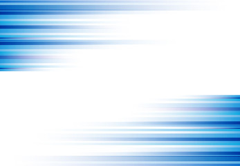 Blue abstract horizonal lines background technology with copy space, Vector