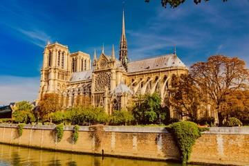 Notre Dame in Paris, in the autumn