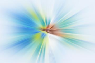 Esplosione di luce blu e verde