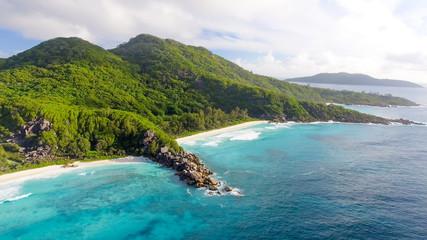 Grande Anse aerial view - La Digue Island, Seychelles