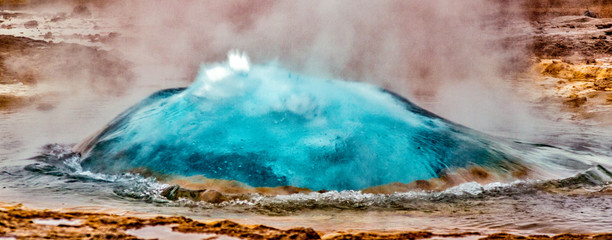 Hot geyser preparing to erupt