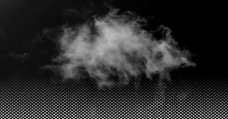 Fog or smoke isolated transparent