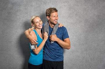 Couple after workout
