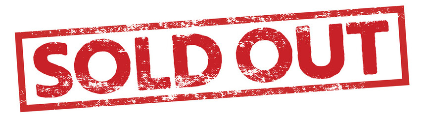 sold out square sign stamp
