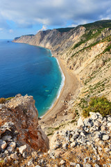 Platia Ammos beach in Kefalonia, Greece