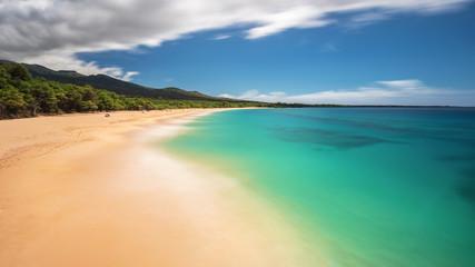 Big Beach Dream. Dreamy long exposure of Big Beach on the Island of Maui, Hawaii