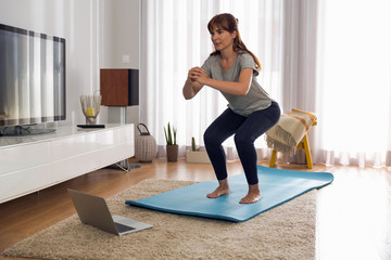 Doing exercise at home