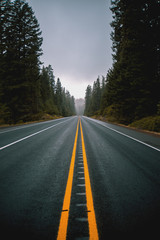 Empty Rainy Highway Road | Oregon
