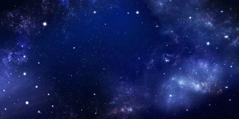 tło nocnego nieba z gwiazdami