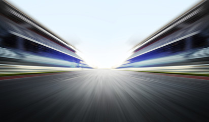motion blure background with road