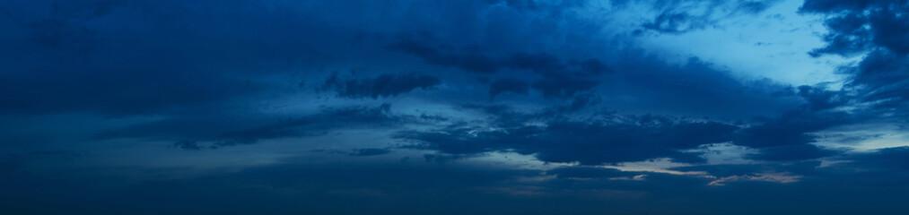Panorama nocnego nieba