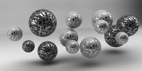 Abstrakcyjne kształty 3d na tle. Obraz 3D. Renderowania 3d.