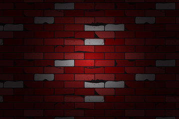 Ancient brick wall background. Red brick wall background vector illustration.