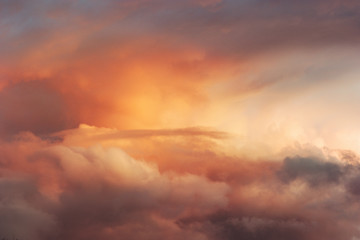 Sunset Sky over clouds Landscape Travel serene tranquil view flying beautiful natural colors