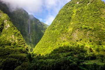 Waterfall in La Reunion island