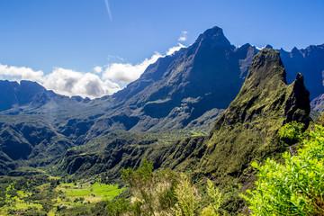 Cirque de Mafate in La Reunion island