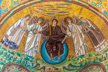 The Apse mosaic at San Vitale, Ravenna. 6th century