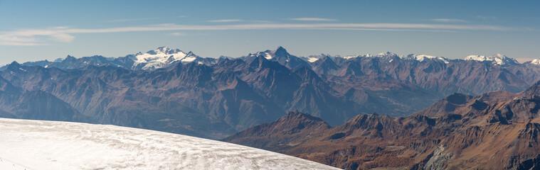 Beautiful Alps as seen from Klein Matterhorn in Switzerland