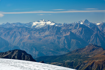 Gran paradiso summit in Alps