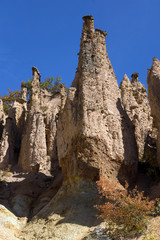 Amazing Autumn Landscape of Rock Formation Devil's town in Radan Mountain, Serbia
