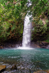The waterfall La Cangreja is part of Rincon de La Vieja National Park, Costa Rica, which is an UNESCO world heritage site since 1999.