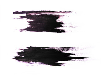 Set of black strokes on a white background. Grunge elements