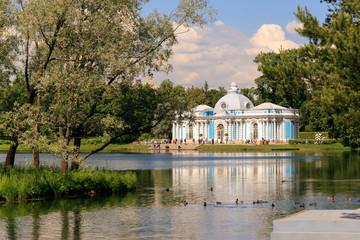 Petersburg, Russia - June 29, 2017: Tsarskoye Selo. The Hermitage pavilion in the Catherine Park.