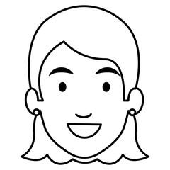 beautiful woman head avatar character vector illustration design