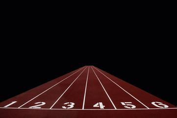 Athletic track on black background