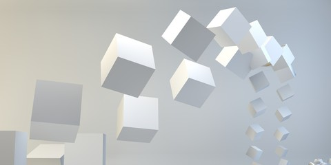 Geometric figure 3d image.