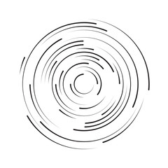 Rotating in a circle line. Abstract background