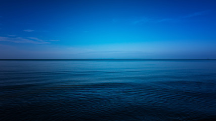 Dark and Blue ocean, Vast ocean and calm