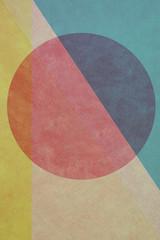 Geometrische Form - Kreis - Retro Papier Design