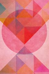 Geometrische Form - Kreis - Buntes Papier Design