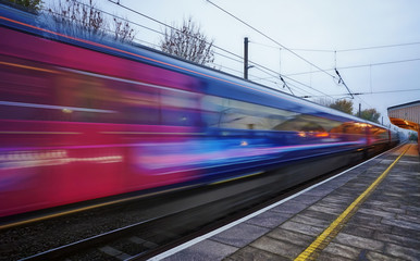 Speed train on the Great Western Mainline out of London