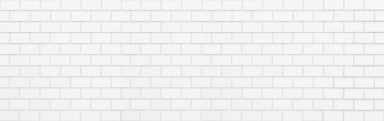 White brick wall seamless background and texture