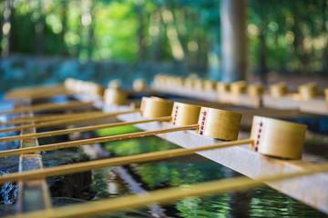 日本 神社 手水舎