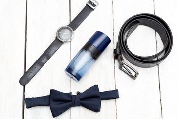 Men accessories, Still life. Business look. Flat lay