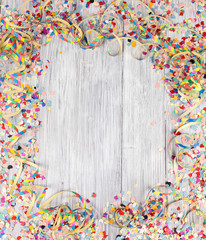 frame carnival confetti