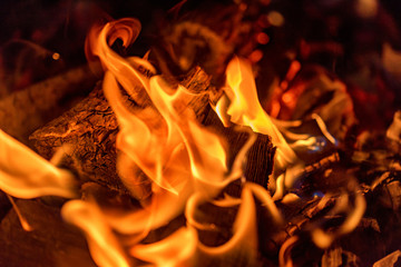 Abstract fire background. Fireplace or hearth