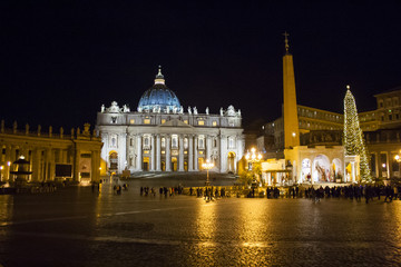 Saint Peter in Christmas time, Rome