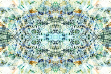 symmetrical abstract background image with kaleidoscope elements