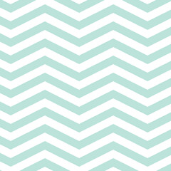 Mint chevron seamless pattern. Pastel blue repeating chevron for backgrounds, borders, gift wrap, fabric, scrapbooking and more. Simple, sweet, cute zigzag print.
