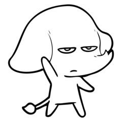 annoyed cartoon elephant