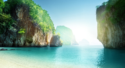 beach of small island, Krabi province, Thailand