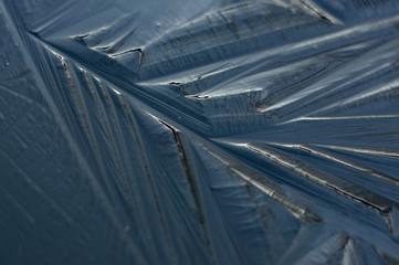 Frozen ice sheet.
