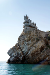 View of the swallow's nest castle from the sea surface